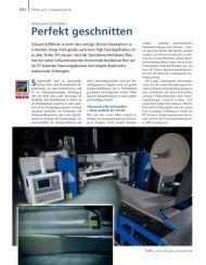Perfekt geschnitten - Siemens Automation and Drives Group