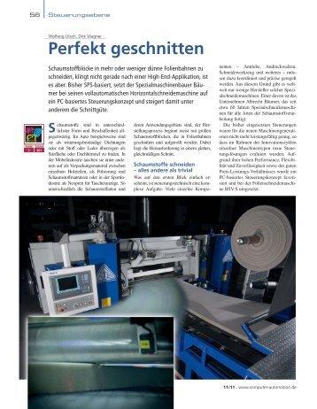 Perfekt geschnitten - Siemens Automation and Drives Group