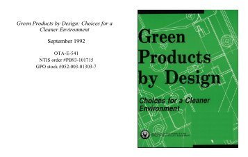 Green Products by Design - Federation of American Scientists