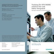 SINUMERIK solution line - Siemens