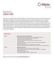 Allplan Allfa Moduluebersicht - Nemetschek Allplan