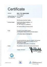 Certificate - Hella