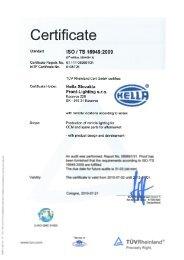 HSKF Kocovce ISO 16949 2013-07-01_en, PDF - Hella