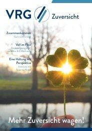VRG Magazin 2020 3     Fokusthema: Zuversicht
