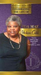 Ida Cobb Memorial Program