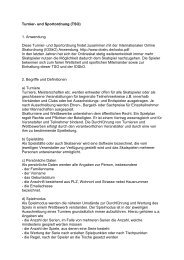 Turnier- und Sportordnung des DOSKV e.V. (TSO)