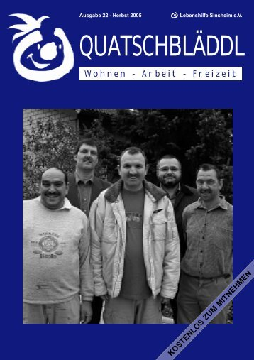 Presseclub der Offenen Hilfen - Kraichgau Werkstatt
