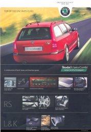 2008 Skoda Octavia Combi Brochure