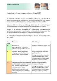 Kundeninformationen zur pandemischen Grippe (H1N1)