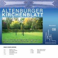 Inhalte dIeser ausgabe: - Kirchgemeinde Altenburg