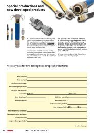 Necessary data for new developments or special ... - luedecke.de