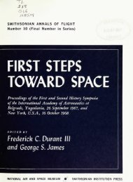 FIRST STEPS TOWARD SPACE - Smithsonian Institution Libraries