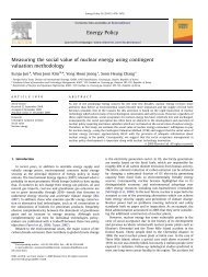 Measuring the social value of nuclear energy using - of WonJoon Kim