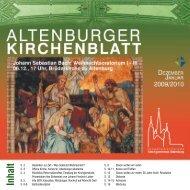 12/2009 - 01/2010 - Kirchgemeinde Altenburg