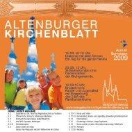 Sonntag, den 16. August 2009 - Kirchgemeinde Altenburg
