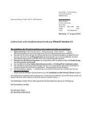 Lieferschein und Installationsbeschreibung - Sparkasse Bamberg