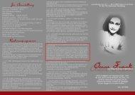 Anne-Frank-Flyer - Taubenschlag