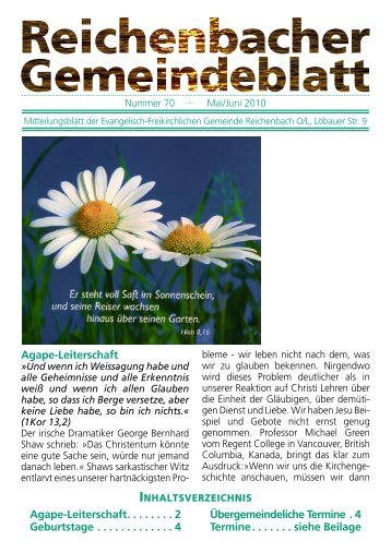 Nr. 70 Mai/Juni - bei der EFG Reichenbach