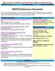 ORFEUS Newsletter - October 1999 - vol 1 - no 3 - page 20