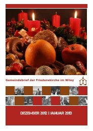DEZEMBER 2012 | JANUAR 2013 - Friedenskirche Neu-Ulm