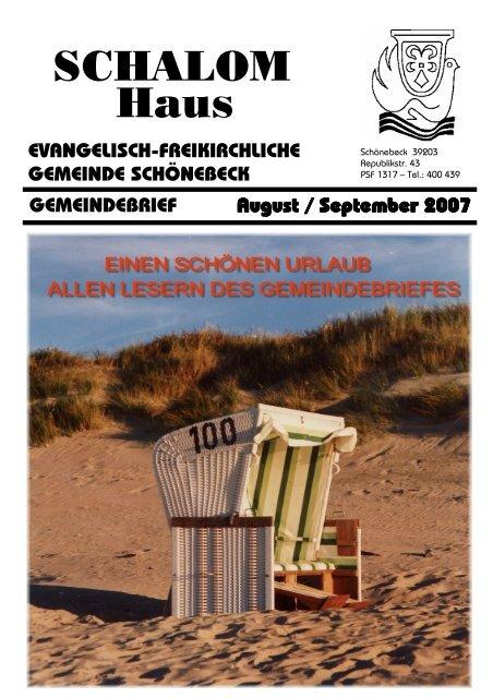 Geburtstage im August / September - Schalom-Haus