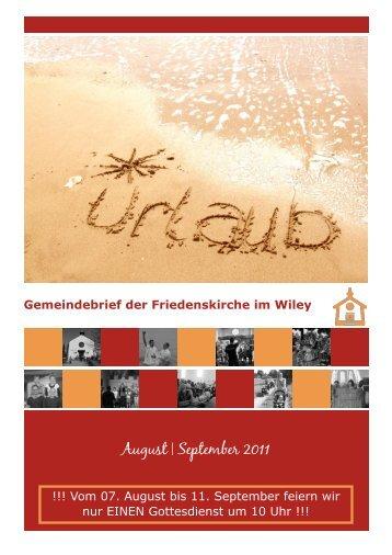 August | September 2011 - Friedenskirche Neu-Ulm
