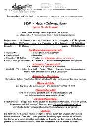 BZW - Haus – Informationen