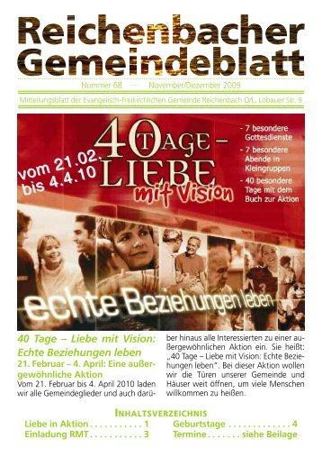 Nr. 68 November/Dezember - bei der EFG Reichenbach