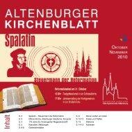 Kirchenblatt 10/11 2010 - Kirchgemeinde Altenburg
