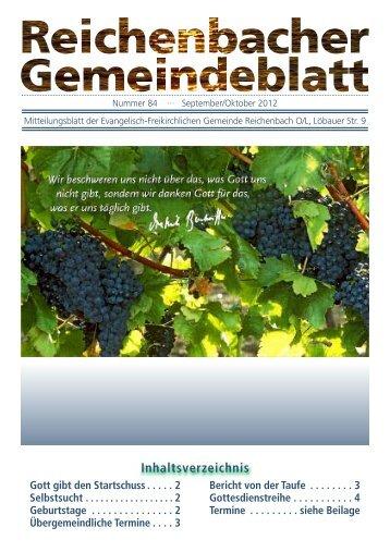 Nr. 84 September/Oktober - bei der EFG Reichenbach