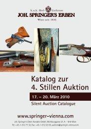 Katalog zur 4. Stillen Auktion - Springer
