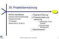 30-projektueberwachu.. - Lehrstuhl für Softwaretechnologie