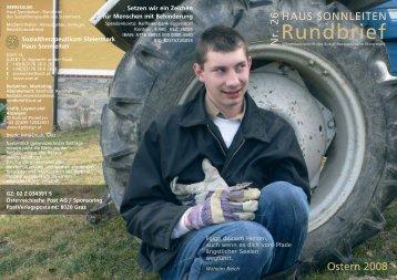 Rundbrief Nr 26.qxp - Sozialtherapeutikum Steiermark