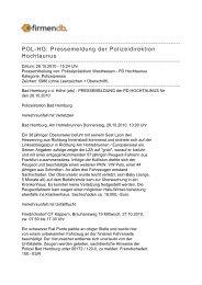 POL-HG: Pressemeldung der Polizeidirektion Hochtaunus - Firmendb