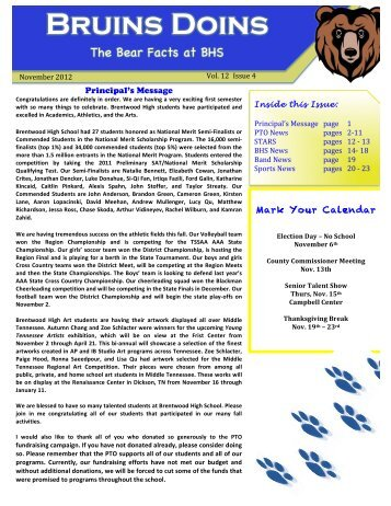 Bruins Doins - Williamson County Schools