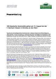180 klassische Automobile ge 7. Sachsen Classic ... - Motor Klassik
