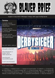 Termine - Ultras Gelsenkirchen