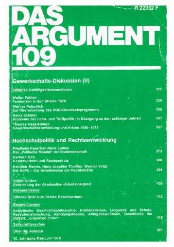 argument- sonderbände as - Berliner Institut für kritische Theorie eV