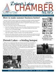 Chamber Newsletter June 2012.indd - Detroit Lakes Tourism Bureau