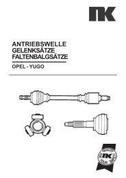Gelenksatz Gelenk Antriebswelle außen vorne OPEL Frontera A 2.0 Campo 2.3 2.5 D