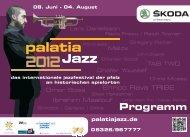 Programm - Palatia Jazz