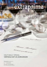 Extraprima Magazin Bordeaux 2018 / 2019 Subskription