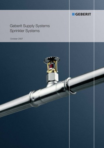 Geberit hdpe the drainage system for Geberit system