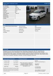 Skoda Fabia Ambiente Combi 13.890 EUR - Autohaus König
