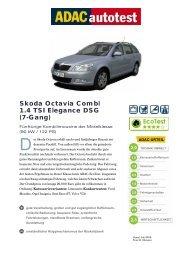 Skoda Octavia Combi 1.4 TSI Elegance DSG (7-Gang) - ADAC