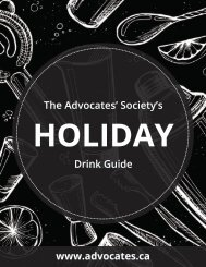 The Advocates' Society's Holiday Drink Guide