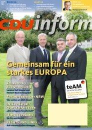 Ausgabe 3/2009 als PDF-Datei - CDU Rheinisch-Bergischer Kreis