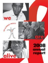 2008 Annual Report - The Aliveness Project