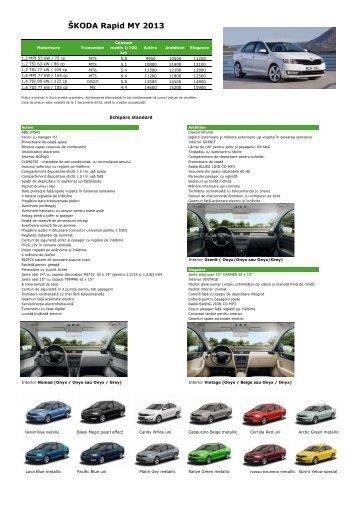 SKODA Rapid Lista de preturi.pdf - ŠKODA Auto Moldova