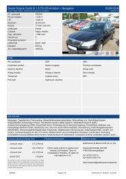 Skoda Octavia Combi III 1,6 TDI CR Ambition + Navigation 16.950 ...